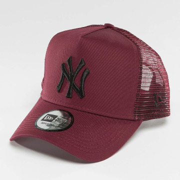 New Era Trucker Cap League Essential NY Yankees red