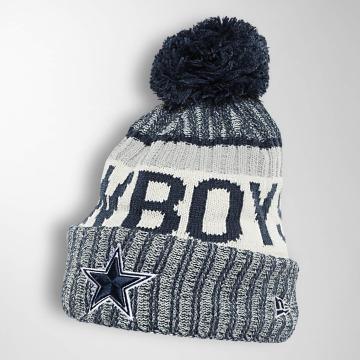 New Era Wintermütze On Fiel NFL Sport Dallas Cowboys blau