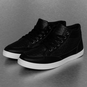 New York Style Sneakers PU Braided svart