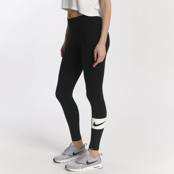 Nike Leggings/Treggings Nike Sportswear Club Swoosh czarny