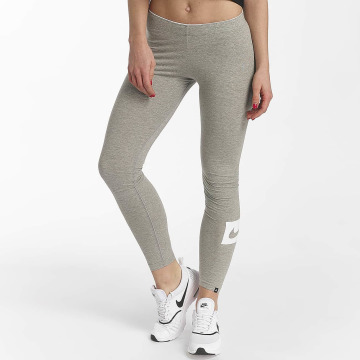 Nike Leggings/Treggings Sportswear Club Swoosh szary