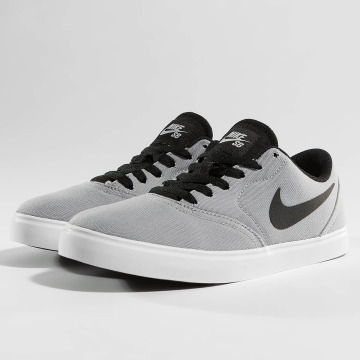 Nike SB Сникеры SB Check Canvas серый