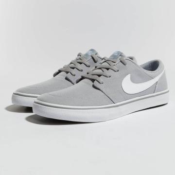 Nike SB Сникеры SB  Solarsoft Portmore II Canvas Skateboarding серый