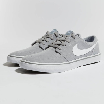 Nike SB Sneaker SB  Solarsoft Portmore II Canvas Skateboarding grigio