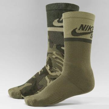 Nike SB Socken Energy Crew Skateboarding 2-Pack bunt