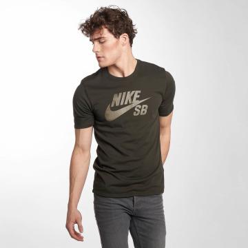Nike SB Tričká Logo olivová