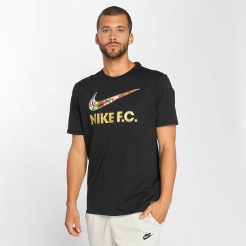 Nike T-paidat Nk Fc Swsh Flag musta