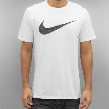 Nike T-Shirt Hangtag Swoosh blanc