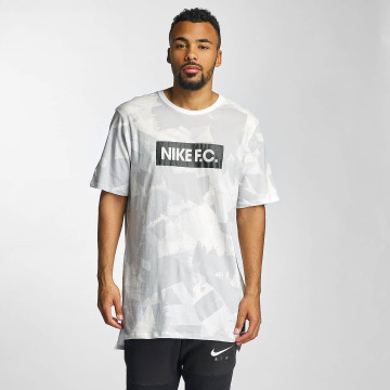 Nike T-shirt longoversize FC AOP 4 gris