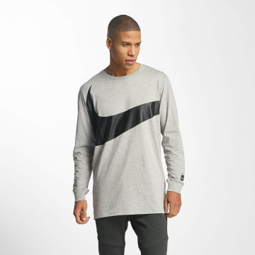 Nike T-Shirt manches longues NSW Hybrid gris