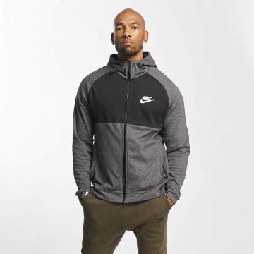Nike Zip Hoodie Sportswear Advance 15 Fleece grau