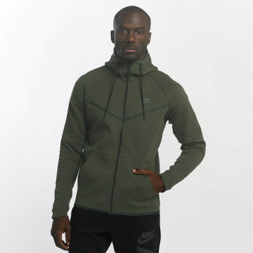 Nike Zip Hoodie Sportswear Tech Fleece green