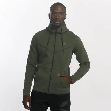Nike Zip Hoodie Sportswear Tech Fleece grün