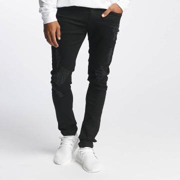 Nobody Berlin Облегающие джинсы Destroyed черный