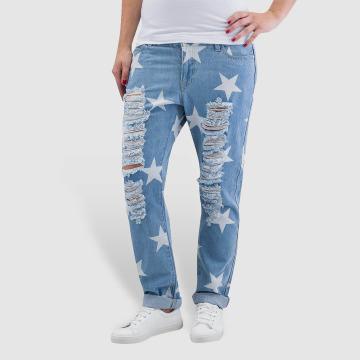Noisy May Boyfriend Jeans nmScarlet Star Low Waist Ankle blue