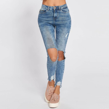 Noisy May High Waisted Jeans nmLexi High modrý