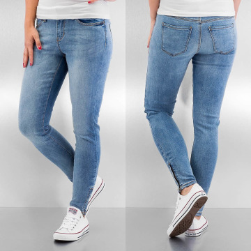 Noisy May Skinny Jeans nmLucy Super Slim Ankle blau
