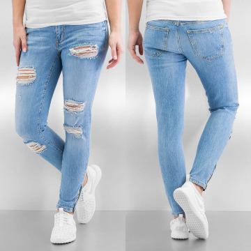 Noisy May Skinny jeans nmEve Super Low Super Slim Ancle Zip blauw
