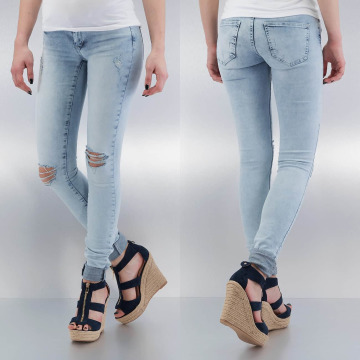 Noisy May Skinny Jeans nmKate Low Waisted Super Slim blue