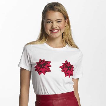 Noisy May T-Shirt nmNovelty Cheeky white