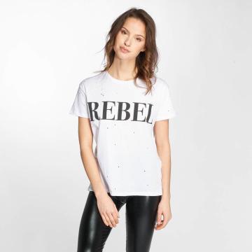 Noisy May T-Shirt nmCommand Rebel white