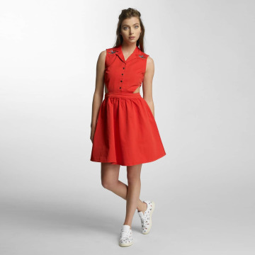 Noisy May Vestido NMPeaches Cut Out rojo