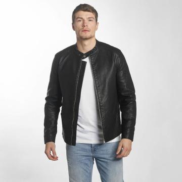 Only & Sons Кожаная куртка onsKris черный