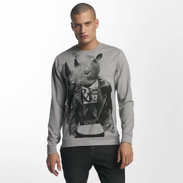 Only & Sons Longsleeves onsVIll Animal Print szary