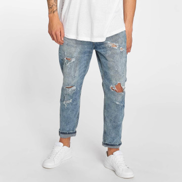 Only & Sons Loose fit jeans ons Beam Cropped Blue Damage blauw
