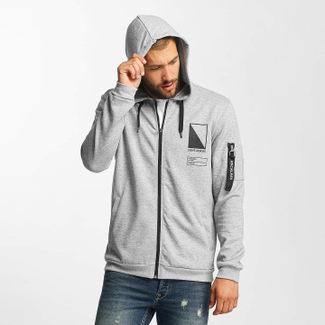 Only & Sons Sweat capuche zippé onsCadby gris