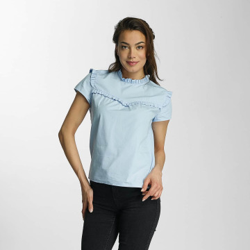Only Blouse onlOzzy Small Frill blauw