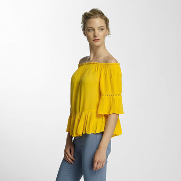 Only Blouse onlBingo Off Shoulder Peplum geel