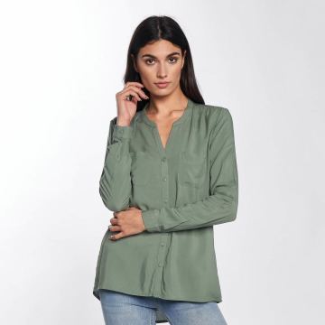 Only Bluse onlFirst Pocket grün