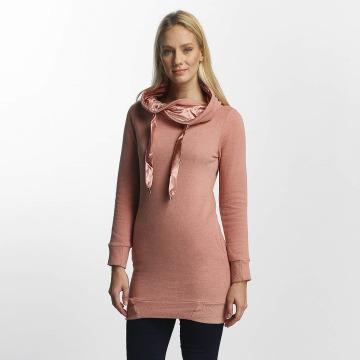 Only Bluzy z kapturem onlBette rózowy