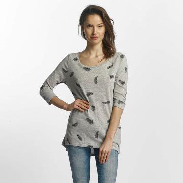 Only Camiseta de manga larga Casa 3/4 gris