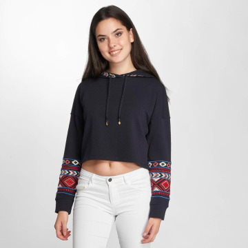 Only Hoody onlAmber Cropped blauw