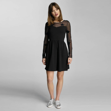 Only Kleid onlNiella Mesh Star schwarz
