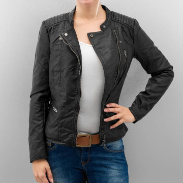 Only Leather Jacket onlFreya black