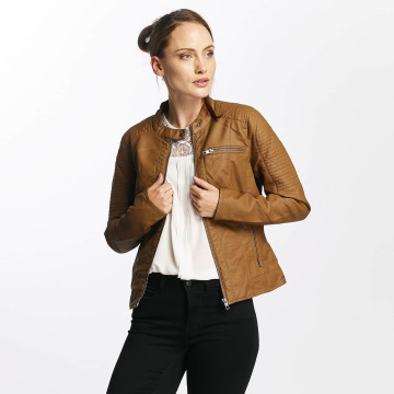 Only Leather Jacket onlReady Faux Leather brown