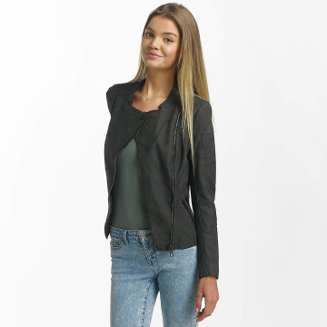 Only Leather Jacket onlAva Faux Leather Biker grey