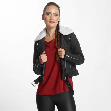 Only leren jas onlDanielle Faux Leather Biker zwart
