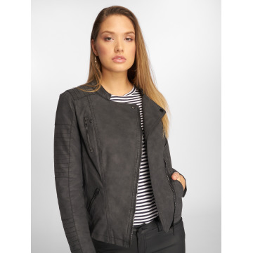 Only leren jas onlAva Faux Leather Biker zwart
