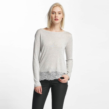 Only Maglia onlShirtley Lace grigio
