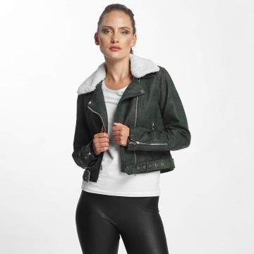 Only Nahkatakit onlDanielle Faux Leather Biker vihreä