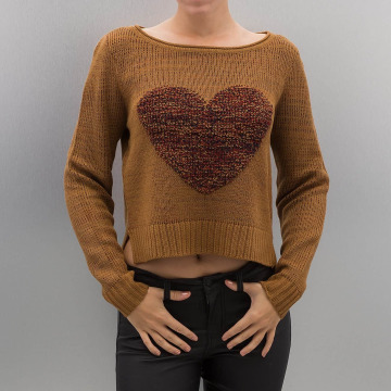 Only Puserot onlCamella Knit ruskea