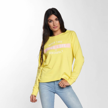 Only Sweat & Pull onlSophia Batwing Unbrushed jaune