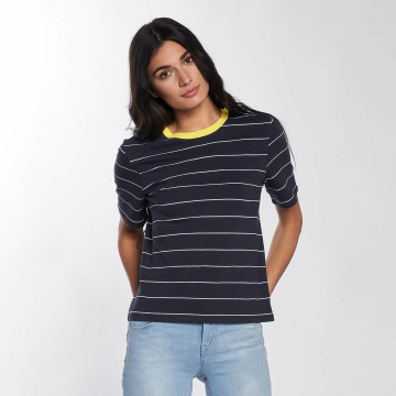 Only T-Shirt onlLive Love Trendy Stripe bleu