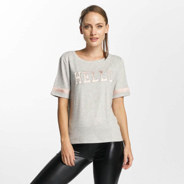 Only T-Shirt onlMia Hello grau