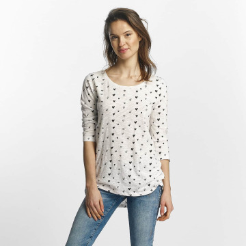 Only T-Shirt manches longues Casa 3/4 blanc