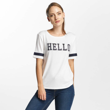 Only T-Shirt onlMia Hello weiß